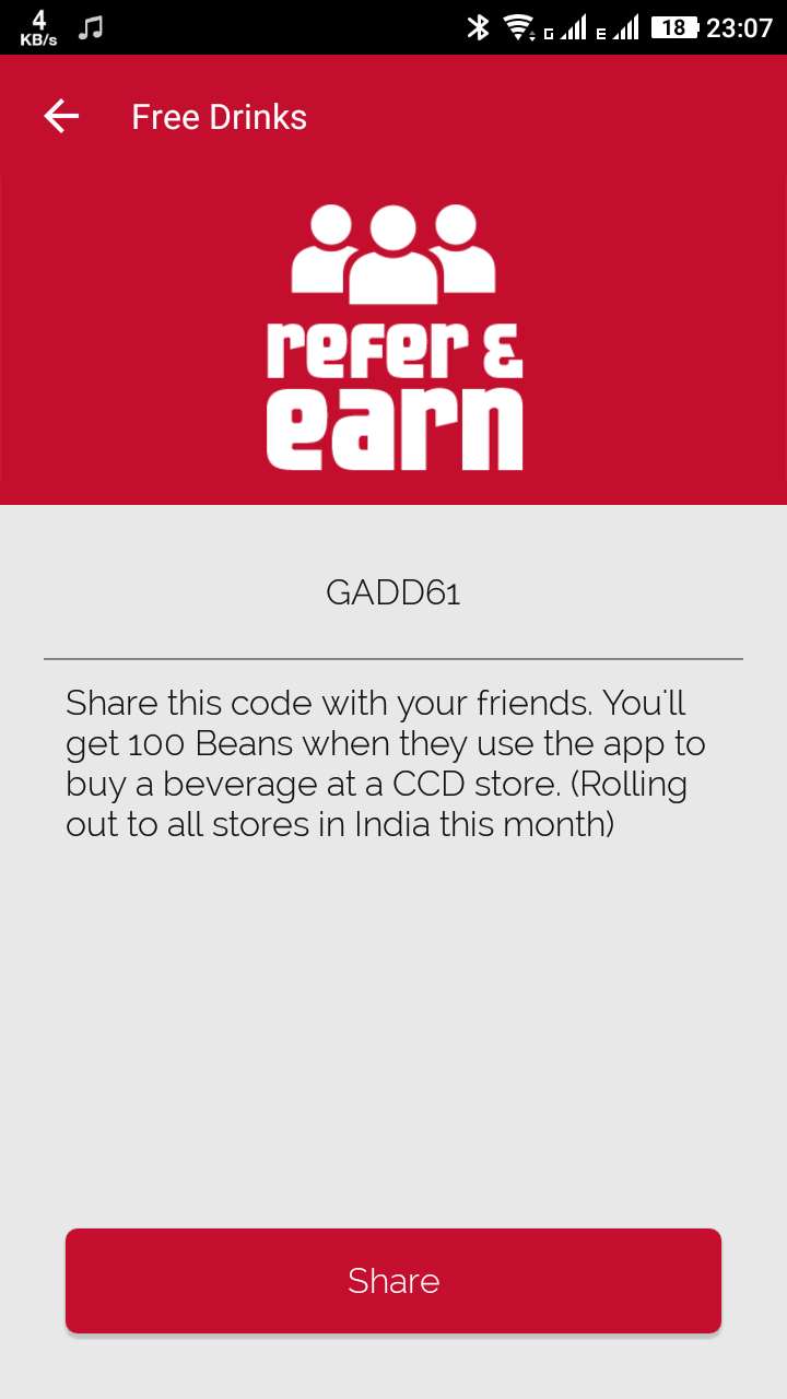 Cafe Coffee Day App