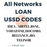 Talktime loan :All Operator Loan Ussd Codes Airtel,Idea,Bsnl,more