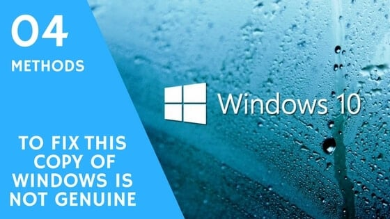 fix this copy if windows genuine